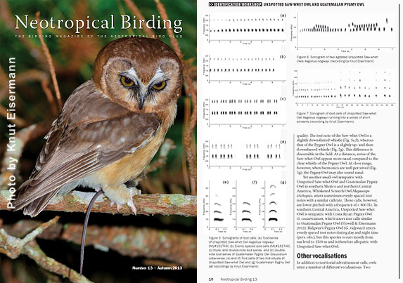 Recent publications of CAYAYA BIRDING staff
